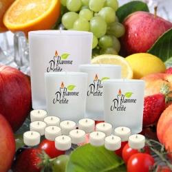 Pack de 5 bougies parfumées PANIER de FRUITS