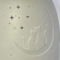Brûle parfum en porcelaine chat