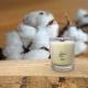Bougie Mèche Bois Parfumée FLEUR de COTON