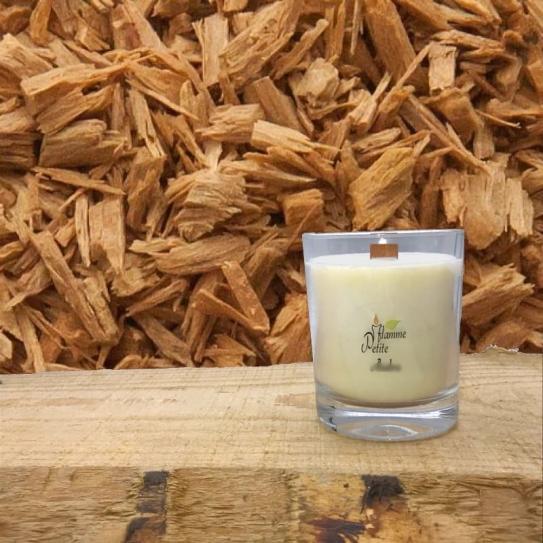 Bougie Mèche Bois Parfumée BOIS de SANTAL