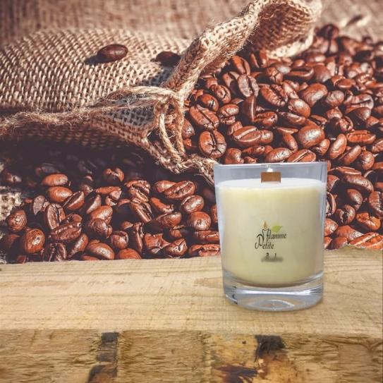 Bougie Mèche Bois Parfumée CAFÉ