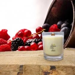 Bougie Mèche Bois Parfumée Fruits rouges